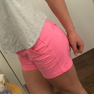 """Pink J. Crew chino shorts 3 1/2"""""""